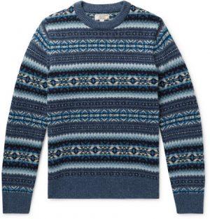 J.Crew - Fair Isle Wool Sweater - Men - Blue