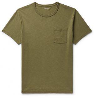 J.Crew - Slim-Fit Garment-Dyed Slub Cotton-Jersey T-Shirt - Army green