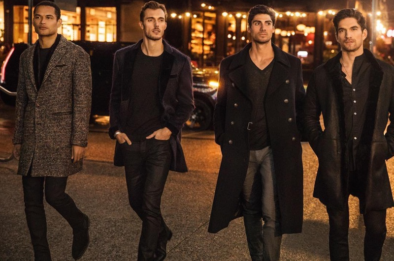 Joshua Milligan Robinson, Federico Cola, Brandon Goss, and David Sanz take to New York in John Varvatos.