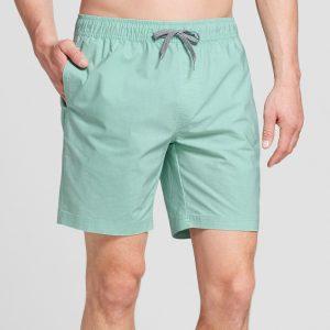 Men's 7.5 Warp Ewaist Boardshorts - Goodfellow & Co Mint Frosting S, Green