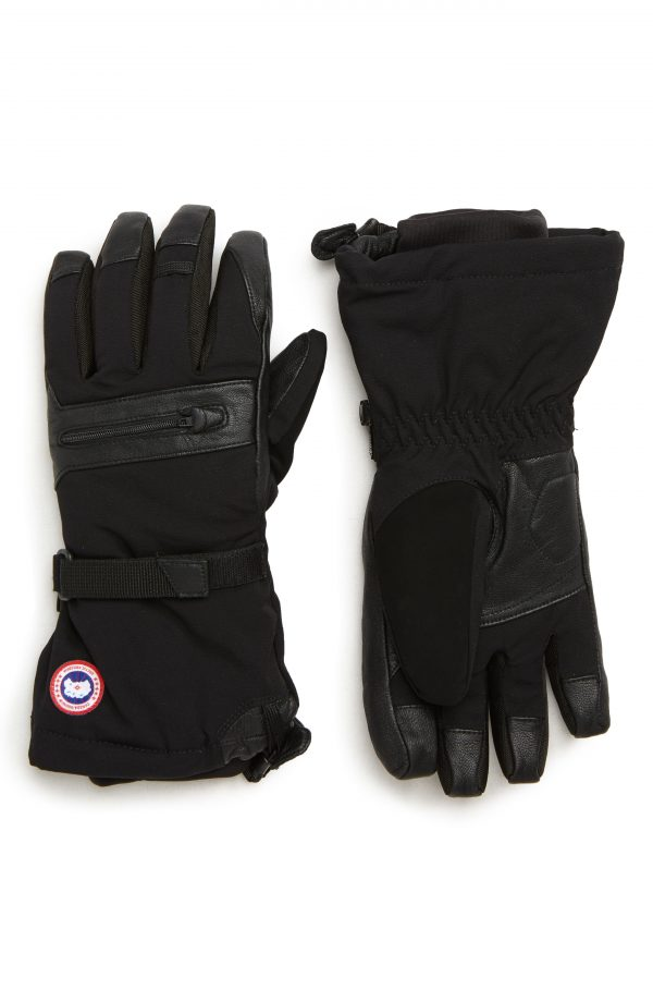 Men's Canada Goose Northern Utility Gloves, Size Large - Black