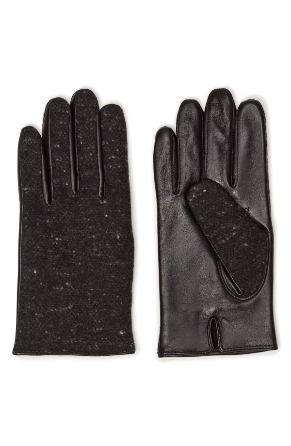 Men's Club Monaco Sheepskin Gloves, Size Small - Black
