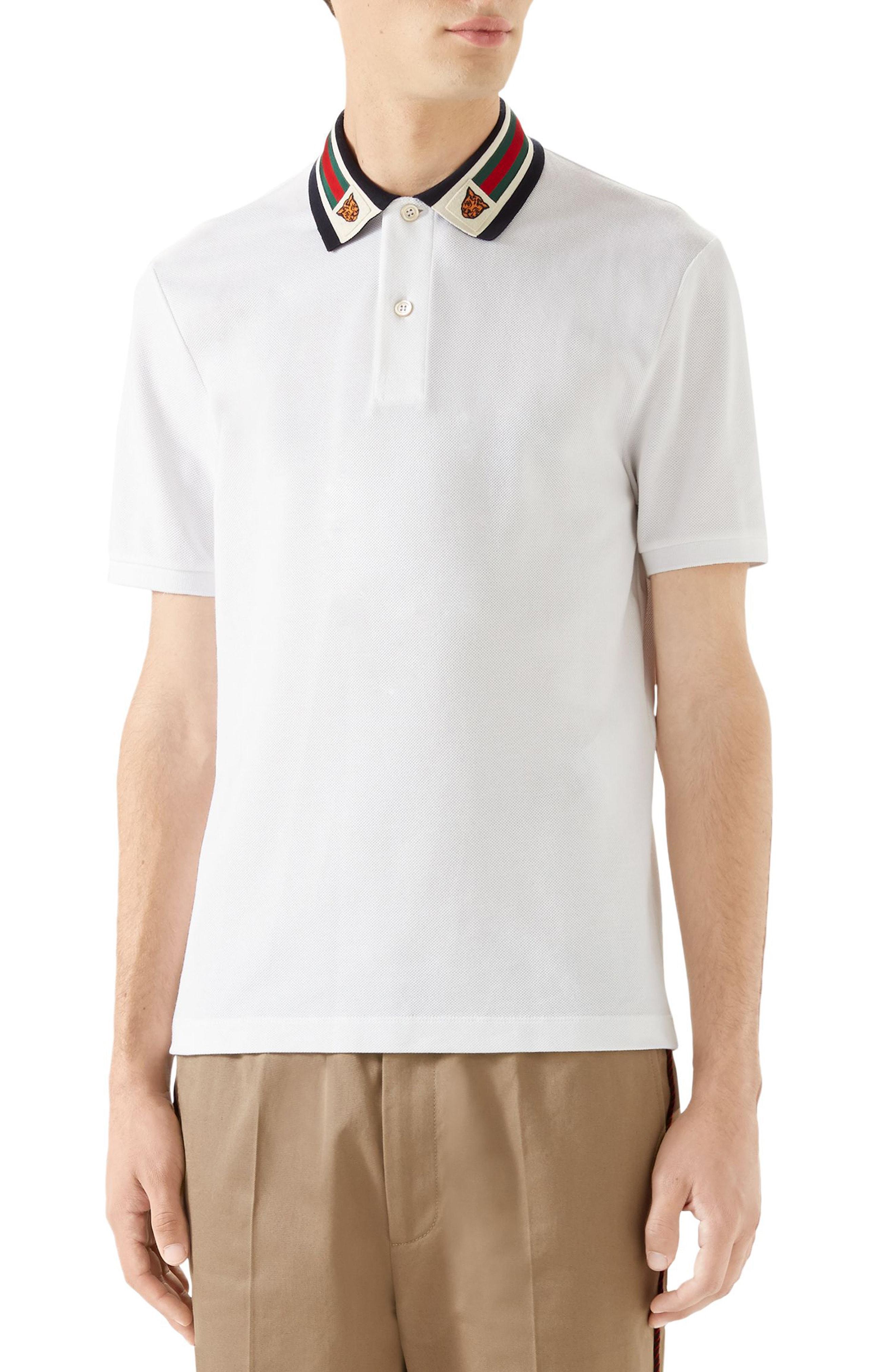 8a6a463f598 Men s Gucci Banding Collar Pique Polo