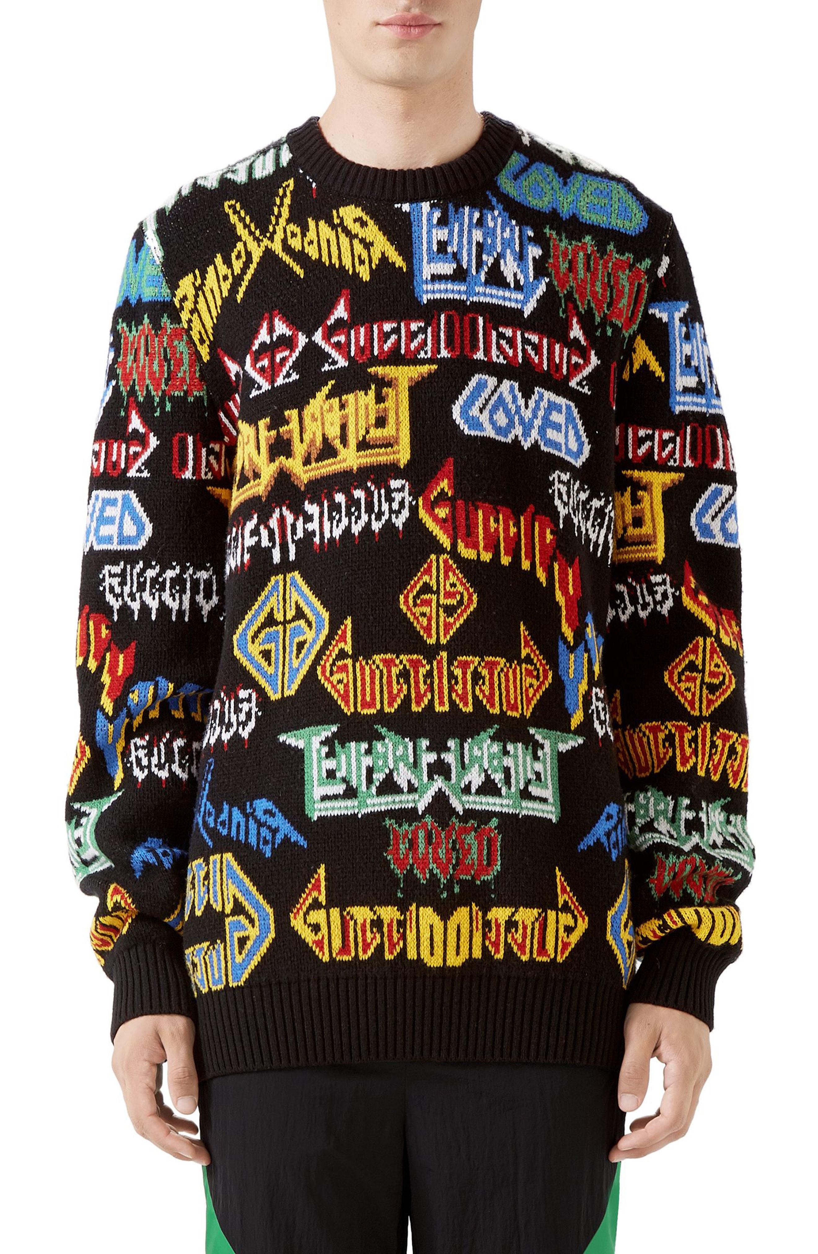 771e90fdcd8 Men s Gucci Black Sabbath Wool Sweater