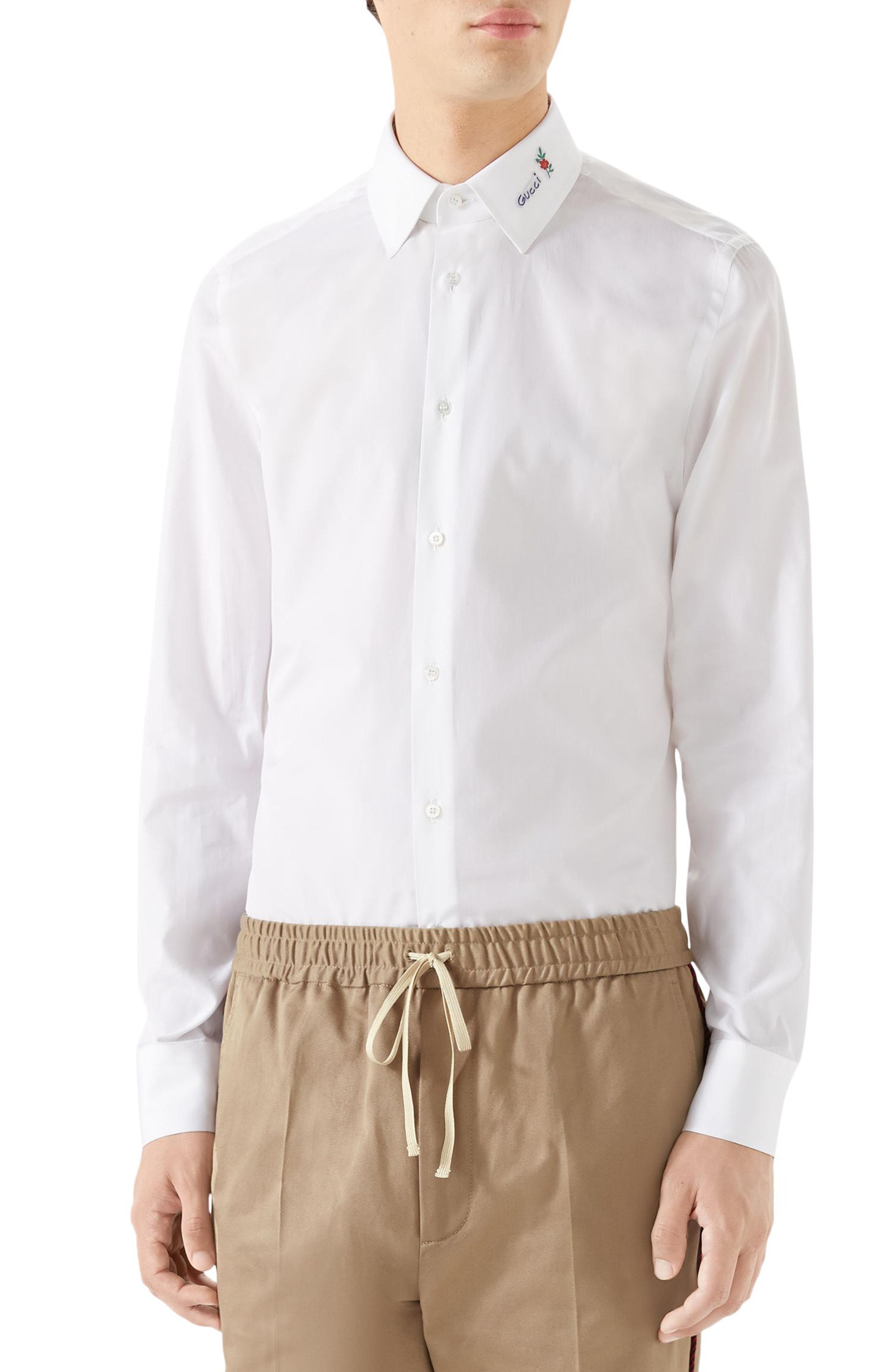 07d201da4cc Men gucci logo collar shirt size white the fashionisto jpg 2640x4048 Gucci  collar shirt