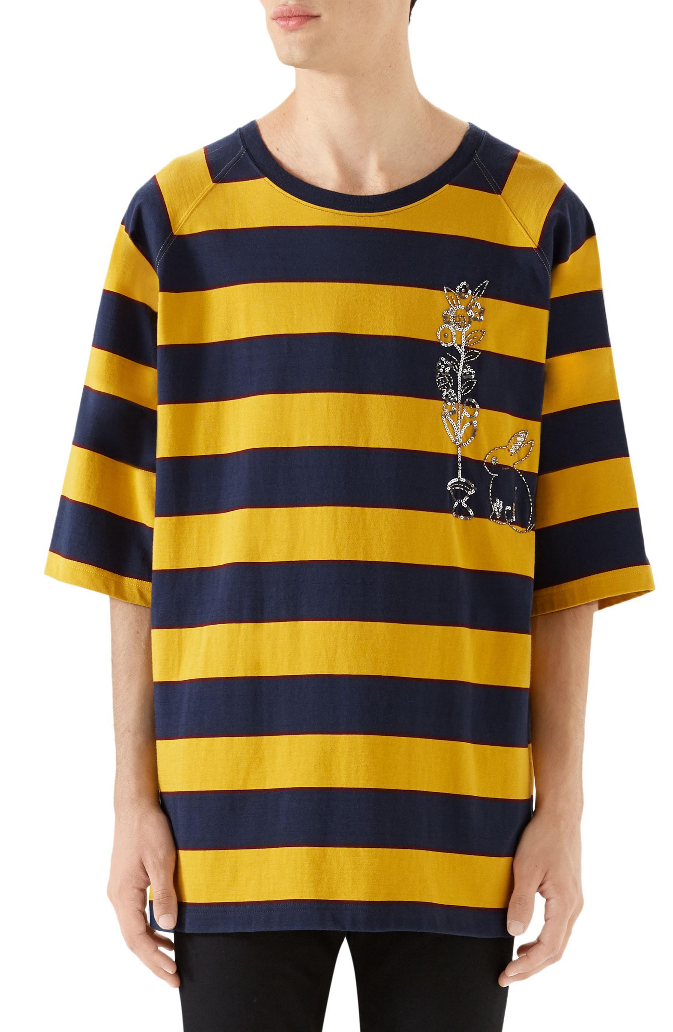 f9565817ee9 Men s Gucci Stripe Crewneck T-Shirt
