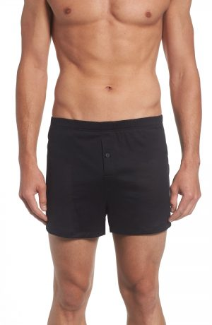 Men's Hanro Cotton Sporty Knit Boxers