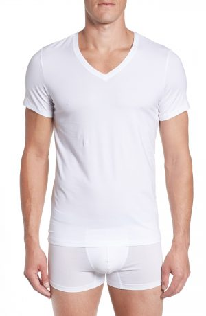 Men's Hanro Cotton Superior V-Neck T-Shirt