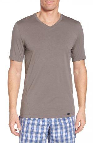 Men's Hanro Liam V-Neck T-Shirt, Size Medium - Grey