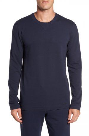 Men's Hanro Living Pullover, Size Small - Black