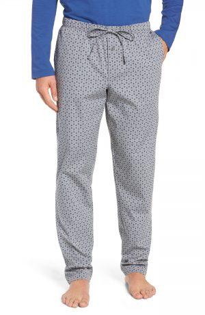 Men's Hanro Loran Cotton Lounge Pants, Size Small - Blue