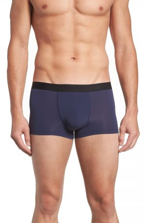 Men's Hanro Micro Touch Boxer Brief, Size Large - Blue