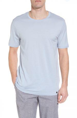 Men's Hanro Night & Day Crewneck T-Shirt, Size Medium - Blue