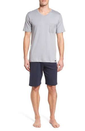 Men's Hanro Night & Day Lounge Pajama Set, Size Small - Grey
