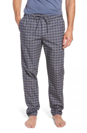 Men's Hanro Night & Day Woven Lounge Pants, Size X-Large - Grey