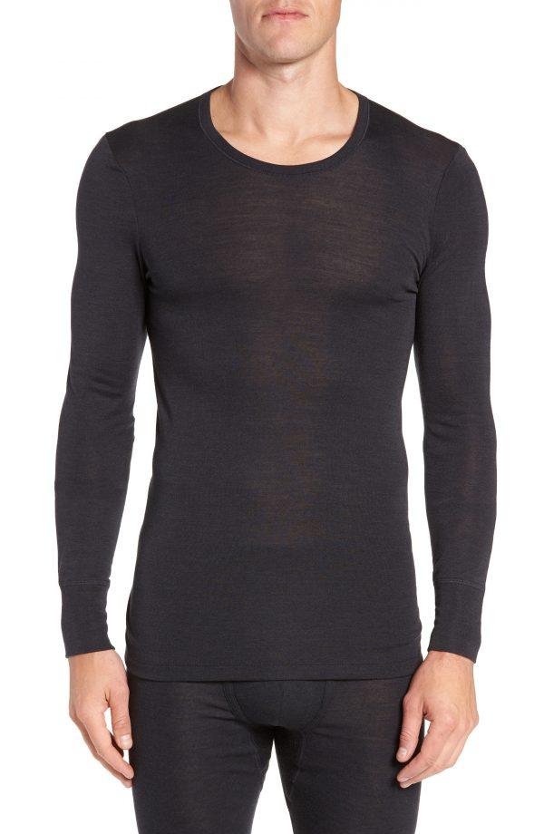 Men's Hanro Wool & Silk Long Sleeve T-Shirt