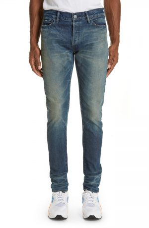 Men's John Elliott The Cast 2 Skinny Fit Jeans, Size 29 - Blue