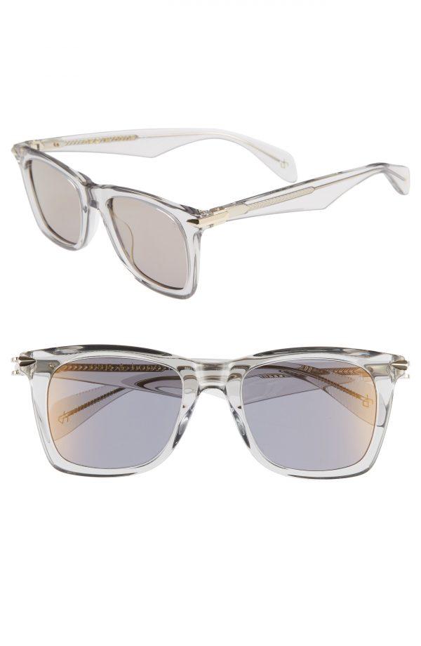 Men's Rag & Bone 54Mm Gradient Sunglasses - Grey