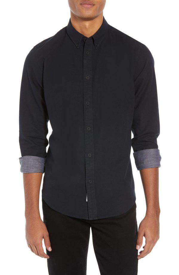 Men's Rag & Bone Fit 2 Slim Tomlin Sport Shirt, Size Small - Black