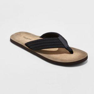 Men's Remington Flip Flop Sandals - Goodfellow & Co Black S