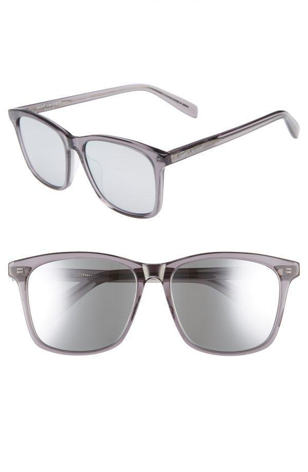 Men's Saint Laurent 205/k 57Mm Sunglasses - Grey