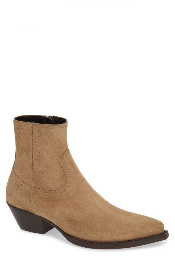 Men's Saint Laurent Lukas 40 Zip Boot, Size 7US / 40EU - Brown