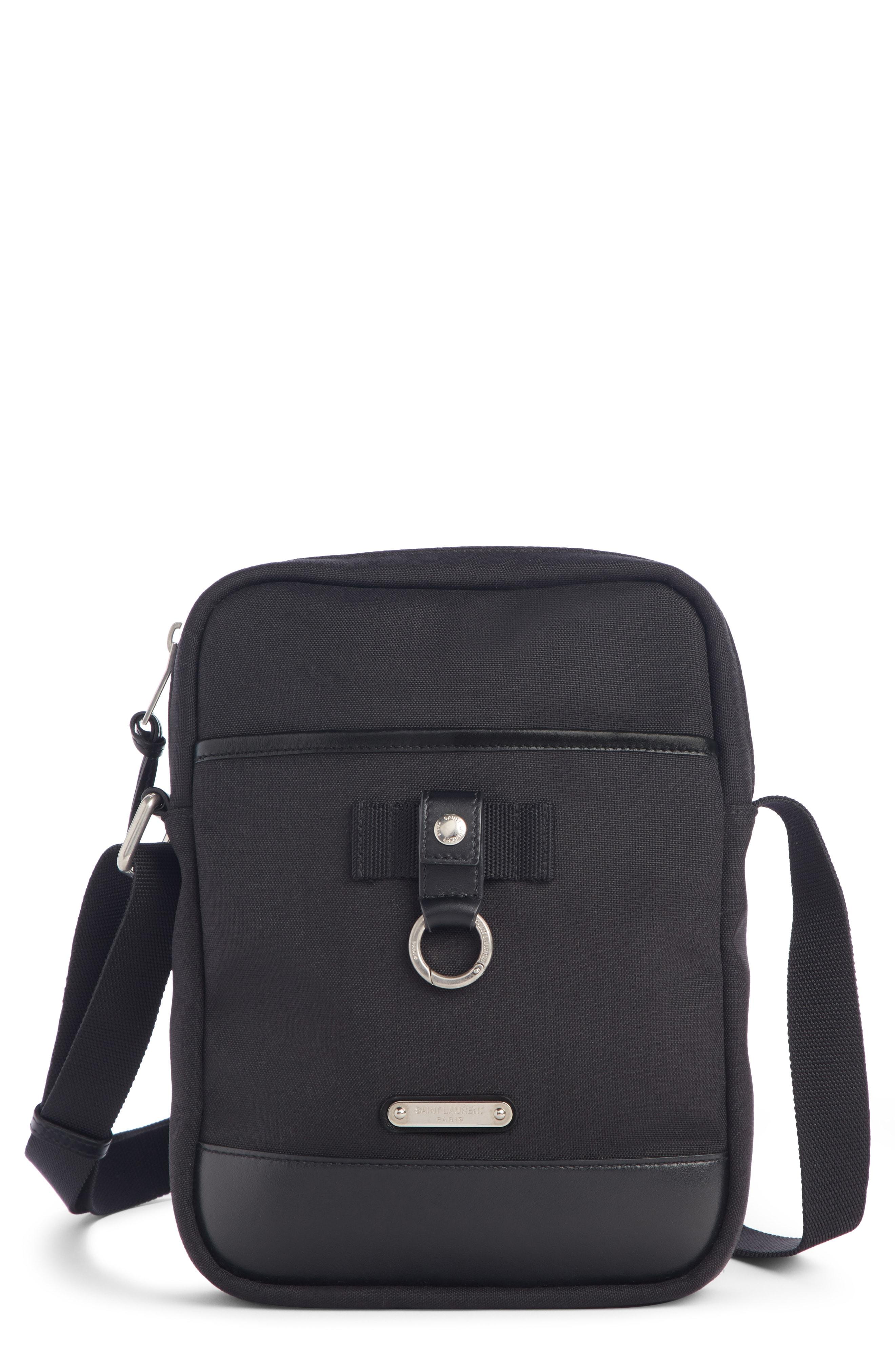 eb7ca798ab2 Men's Saint Laurent Small Messenger Bag – Black | The Fashionisto