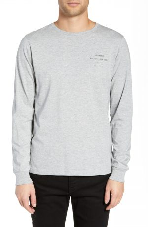 Men's Saturdays Nyc Established Chest Long Sleeve T-Shirt, Size Small - Grey