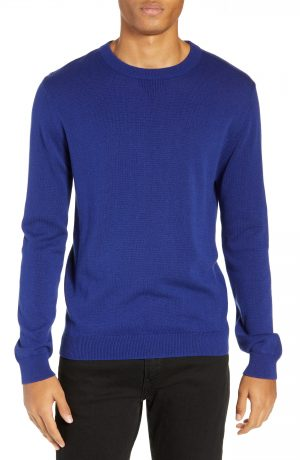 Men's Saturdays Nyc Everyday Crewneck Sweater, Size Large - Blue