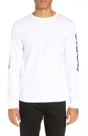 Men's Saturdays Nyc Exclude Logo Long Sleeve T-Shirt, Size Small - White