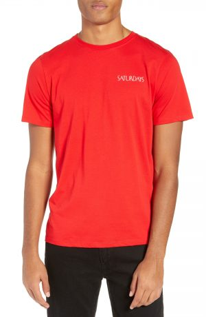 Men's Saturdays Nyc Flapper Logo T-Shirt, Size Small - Red
