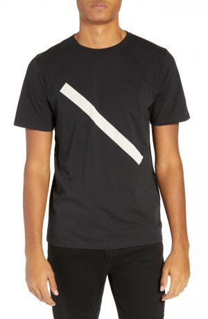 Men's Saturdays Nyc Slash Graphic T-Shirt, Size Small - Black