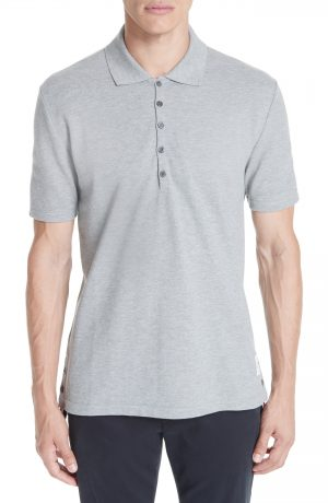 Men's Thom Browne Cotton Polo Shirt, Size 4 - Blue