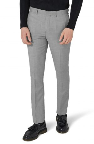 Men's Topman Como Skinny Fit Grey Suit Pants