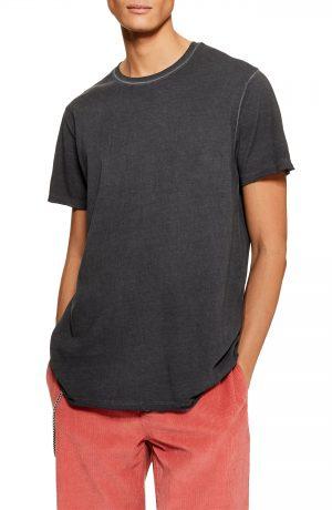 Men's Topman Smoked Classic Fit T-Shirt, Size Large - Black