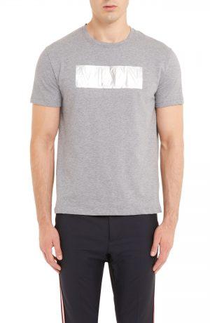 Men's Valentino Vltn Logo T-Shirt, Size XX-Large - Grey