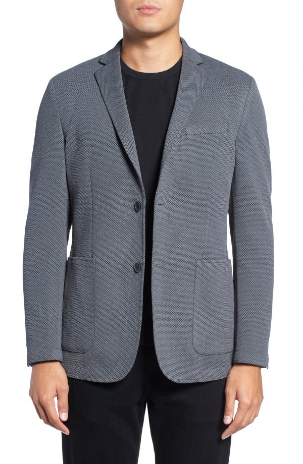 Men's Vince Camuto Slim Fit Stretch Knit Sport Coat, Size X-Small - Grey