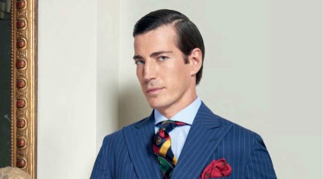 Oriol Elcacho Suits Up in Ralph Lauren for The Rake