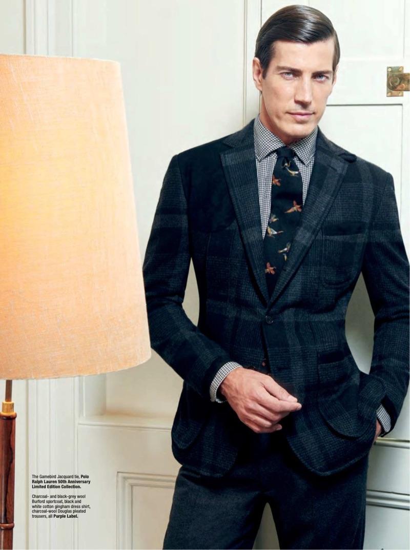 Oriol Elcacho Suits Up in Ralph Lauren for The Rake