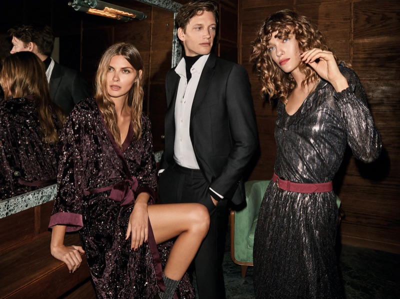 Front and center, Florian Van Bael appears in Pedro del Hierro's Christmas 2018 outing.