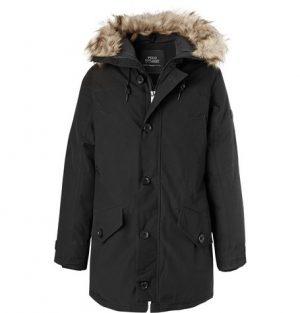 Polo Ralph Lauren - Faux Fur-Trimmed Twill Parka - Men - Black
