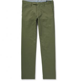 Polo Ralph Lauren - Slim-Fit Stretch-Cotton Twill Chinos - Army green