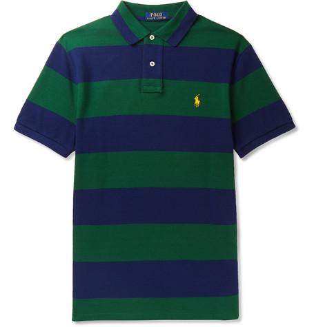 96dd5effd Polo Ralph Lauren – Slim-Fit Striped Cotton-Piqué Polo Shirt – Men ...