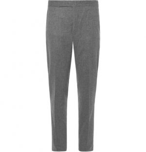 Polo Ralph Lauren - Slim-Fit Tapered Wool-Flannel Trousers - Men - Gray