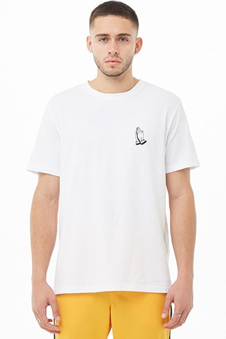 Praying Hands Graphic Tee by 21 MEN White/black