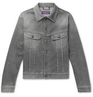 Ralph Lauren Purple Label - Stretch-Denim Trucker Jacket - Men - Gray