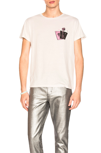 Saint Laurent Graphic Tee in White. - size M (also in S,L,XL)