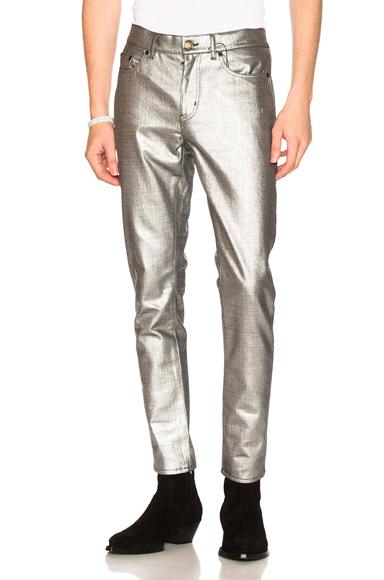 Saint Laurent Jeans in Metallic. - size 29 (also in 28,33,34,36)