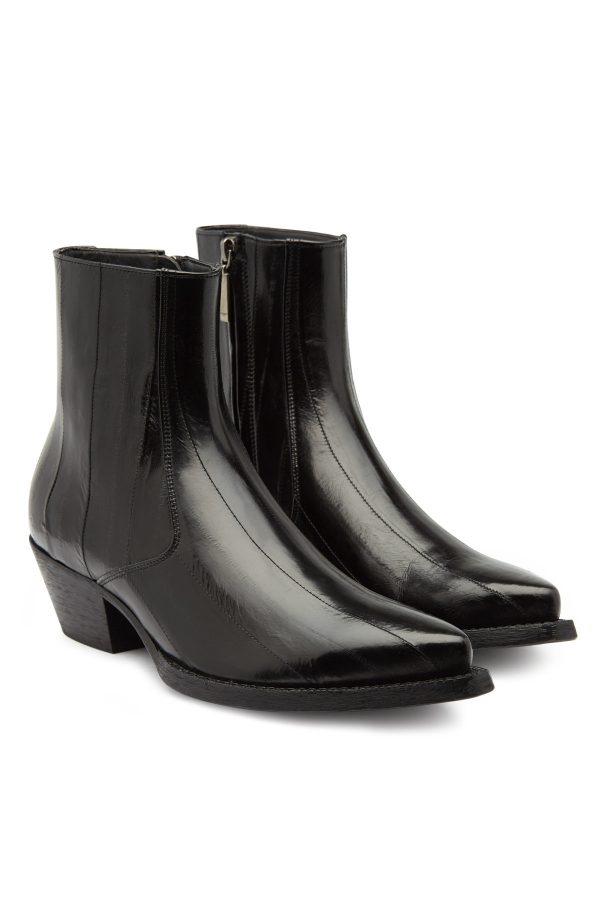 Saint Laurent Lukas Leather Ankle Boots