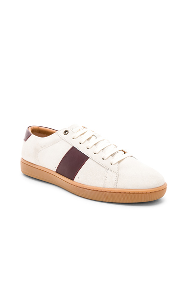 Saint Laurent SL/01 Low Top Sneakers in White,Red. - size 45 (also in )